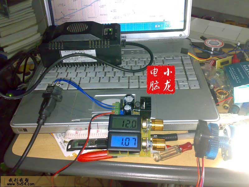 使用电动车充电器+原装lm2576hv-adj制作的3-53v连续